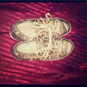 Cute golden shoes